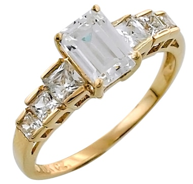 Diamonelle Multi Shape 10K Gold Ring