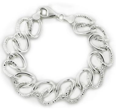 Bracelet à anneaux en argent sterling