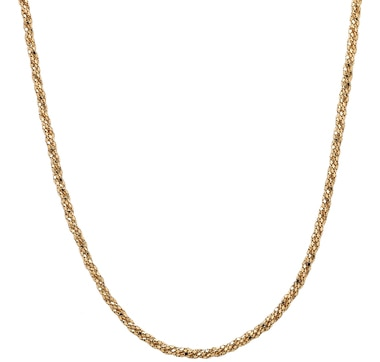 "Coreana Sterling Silver & 18K Gold Plate 18"" Necklace"