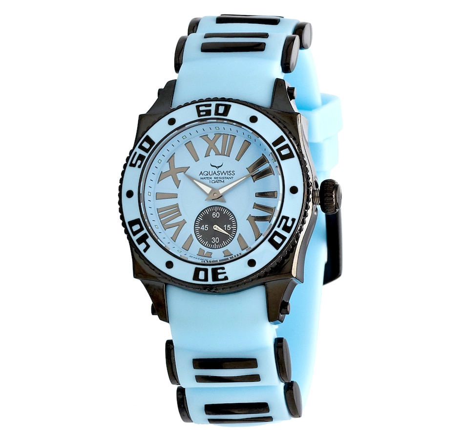 Image 459132_BLU.jpg , Product 459-132 / Price $138.77 , Aquaswiss Stainless Steel Silicone Strap Watch from AQUASWISS on TSC.ca's Jewellery department