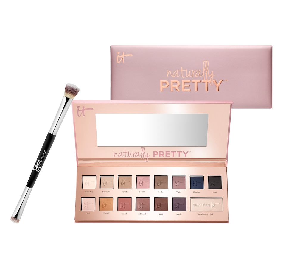 Image 464985.jpg , Product 464-985 / Price $70.00 , IT Cosmetics Your Naturally Pretty Matte Eyeshadow Palette with Dual Shadow Brush from It Cosmetics on TSC.ca's Eyeshadows department