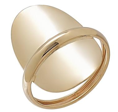 Stefano Oro 14K Yellow Gold Mirror Oval Elegance Ring