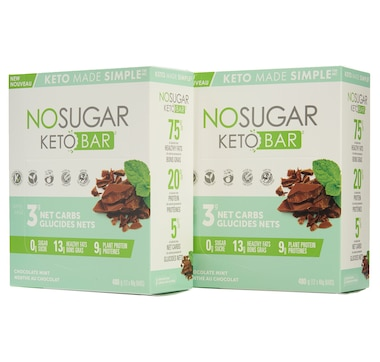 Keto Made Simple No Sugar Keto Bar 12-Count Duo in Mint Chocolate - 30-Day Auto Delivery