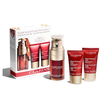 Clarins Double Serum & Super Restorative Cream 3-Piece Set