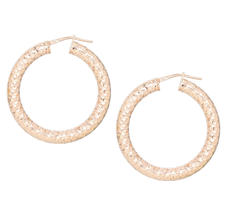 Image 476192_RSGP.jpg , Product 476-192 / Price $89.99 , Silver Gallery Sterling Silver Diamond Cut Hoops from Silver Gallery on TSC.ca's Jewellery department