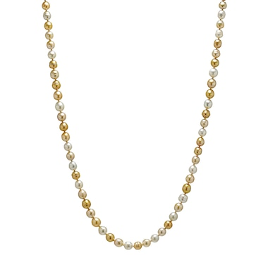 Imperial Pearls 14K Gold 8-10 mm Pearl Necklace