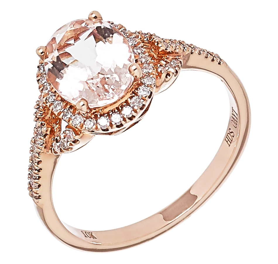 Image 476322.jpg , Product 476-322 / Price $699.88 , 10K Rose Gold Morganite and Diamond Ring from The Vault on TSC.ca's Jewellery department
