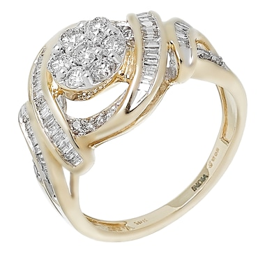10K Yellow Gold 1.00ctw Diamond Ring