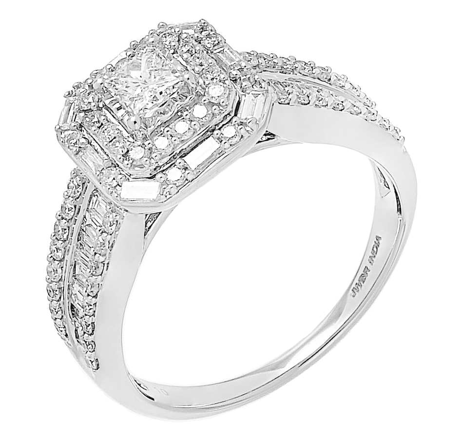 Image 476327.jpg , Product 476-327 / Price $1,499.99 , 10K White Gold 1.00ctw Cushion Shape Diamond Ring from Diamond Show on TSC.ca's Jewellery department