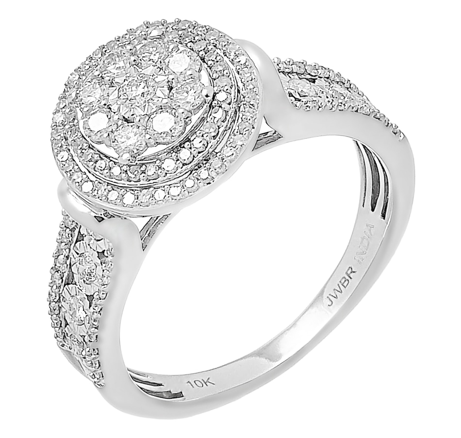 Image 476333.jpg , Product 476-333 / Price $499.99 , 10K White Gold 0.75ctw Halo Diamond Ring from Diamond Show on TSC.ca's Jewellery department