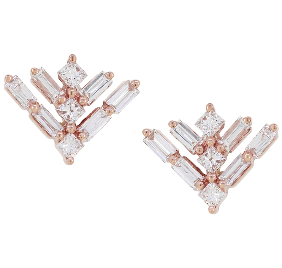 Image 476425.jpg , Product 476-425 / Price $849.88 , LUXLE Jewellery 14K Rose Gold Diamond Fancy Stud Earrings from LUXLE Jewellery on TSC.ca's Jewellery department
