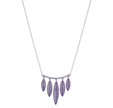 LUXLE Jewellery 14K White Gold Marquise Design Drop Necklace