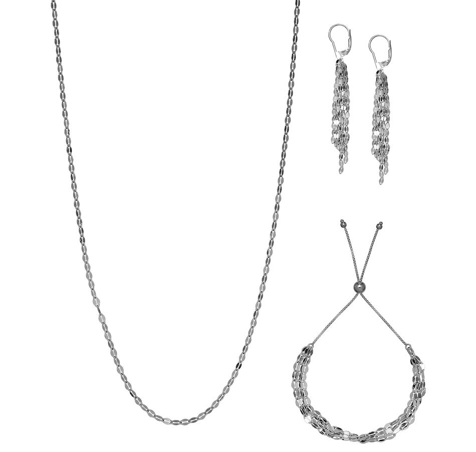 Image 476771_RDM.jpg , Product 476-771 / Price $89.99 , Silver Gallery Sterling Silver Butterfly Link Necklace, Bracelet and Earring Collection from Silver Gallery on TSC.ca's Jewellery department