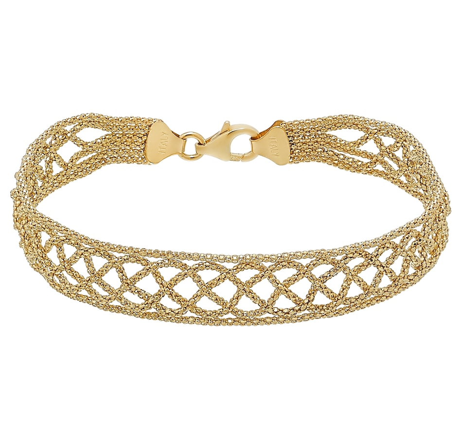 Image 476828.jpg , Product 476-828 / Price $899.99 , Stefano Oro 14K Yellow Gold Tessuto Oro Bracelet from Stefano Oro on TSC.ca's Jewellery department