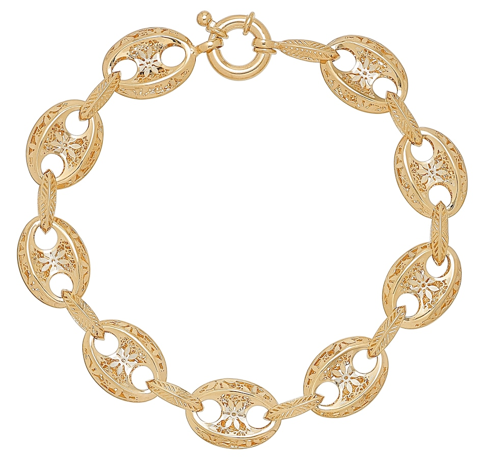 Image 476831.jpg , Product 476-831 / Price $1,199.99 , Stefano Oro 14K Yellow Gold Ricami Puff Marina Bracelet from Stefano Oro on TSC.ca's Jewellery department