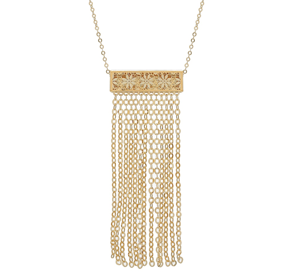 Image 476833.jpg , Product 476-833 / Price $499.99 , Stefano Oro 14K Yellow Gold Ricami Tassel Necklace from Stefano Oro on TSC.ca's Jewellery department