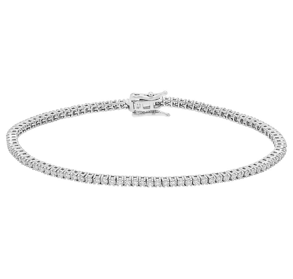 Image 476884_2PCT.jpg , Product 476-884 / Price $1,199.99 - $2,199.99 , Inspire Diamonds 14K White Gold Diamond Tennis Bracelet from Inspire Diamonds on TSC.ca's Jewellery department