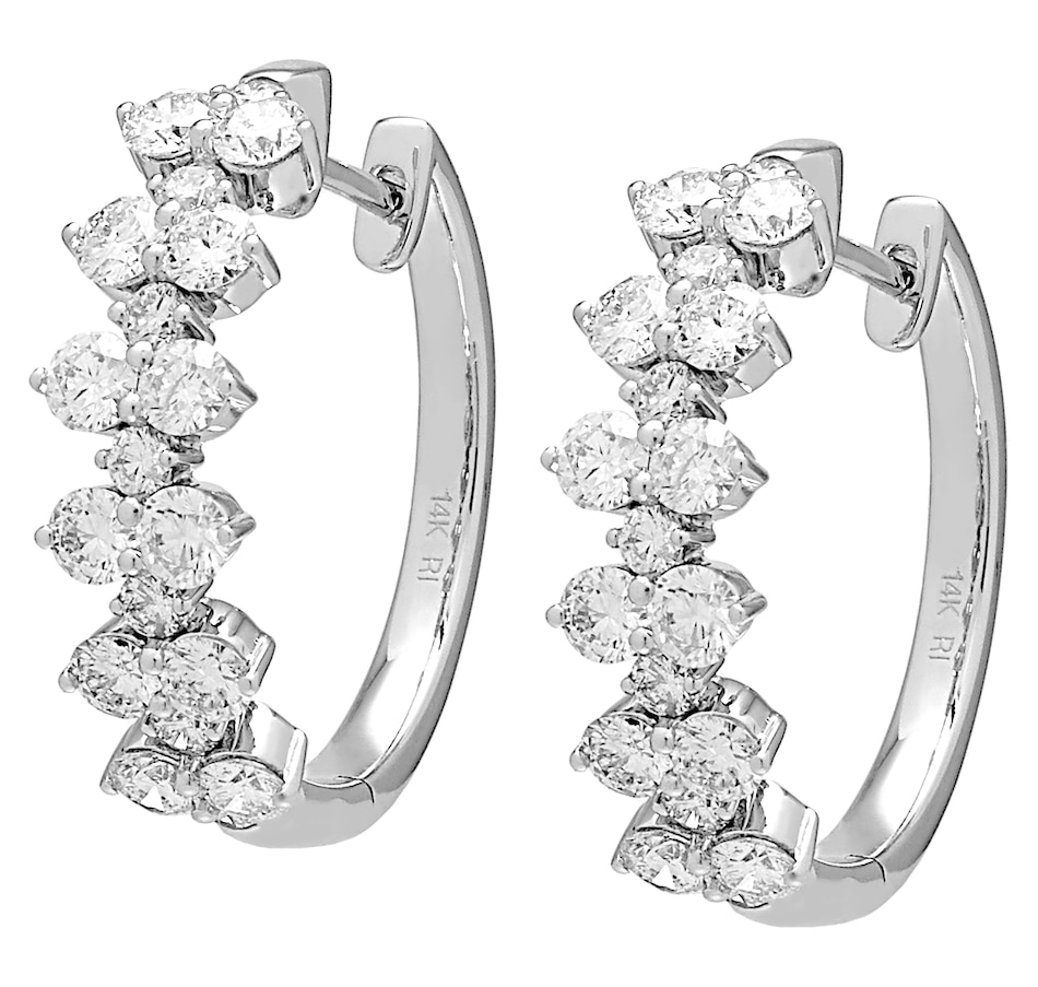 Image 476985.jpg , Product 476-985 / Price $3,999.99 , Diamond Show 14K White Gold Diamond Hoop Earrings from Diamond Show on TSC.ca's Jewellery department
