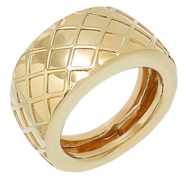 International Gold 10K Yellow Gold Decor Bold Band Ring
