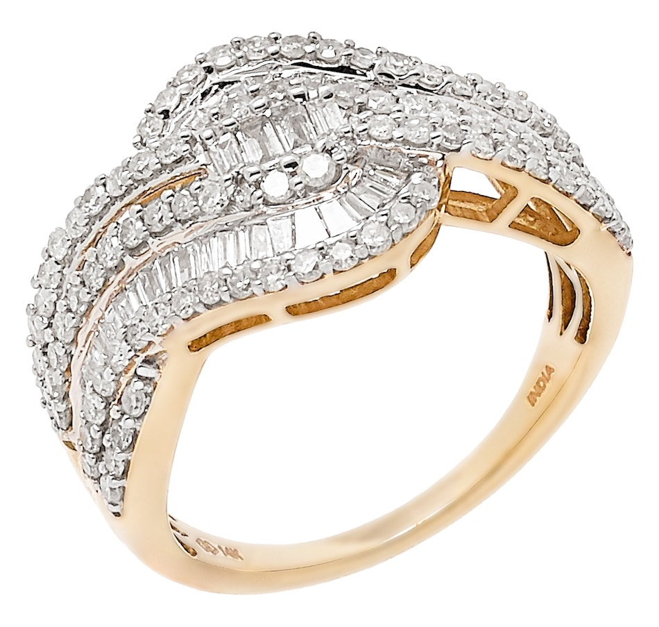 Image 477187_YGL.jpg , Product 477-187 / Price $1,219.99 , 14K Gold 1.15ctw Baguette & Round Diamond Ring from Diamond Show on TSC.ca's Jewellery department