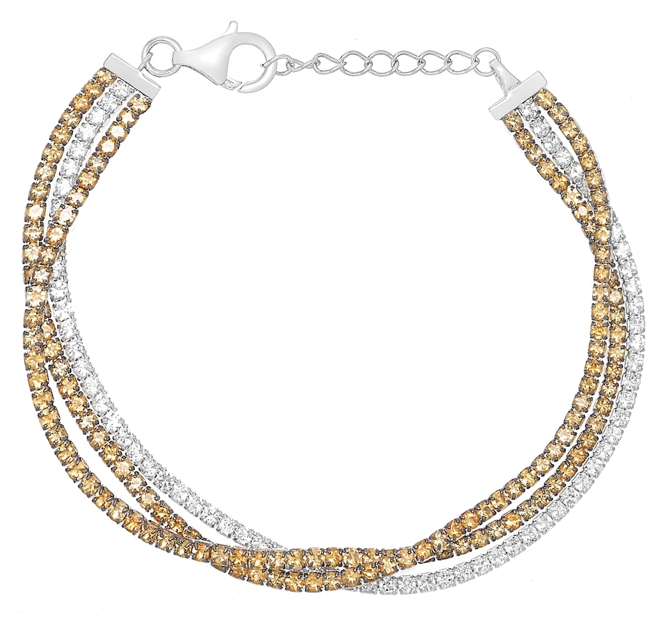 Image 477226_CIT.jpg , Product 477-226 / Price $219.99 , Sterling Silver White Topaz & Gemstone Bracelet from Best of Gems on TSC.ca's Jewellery department