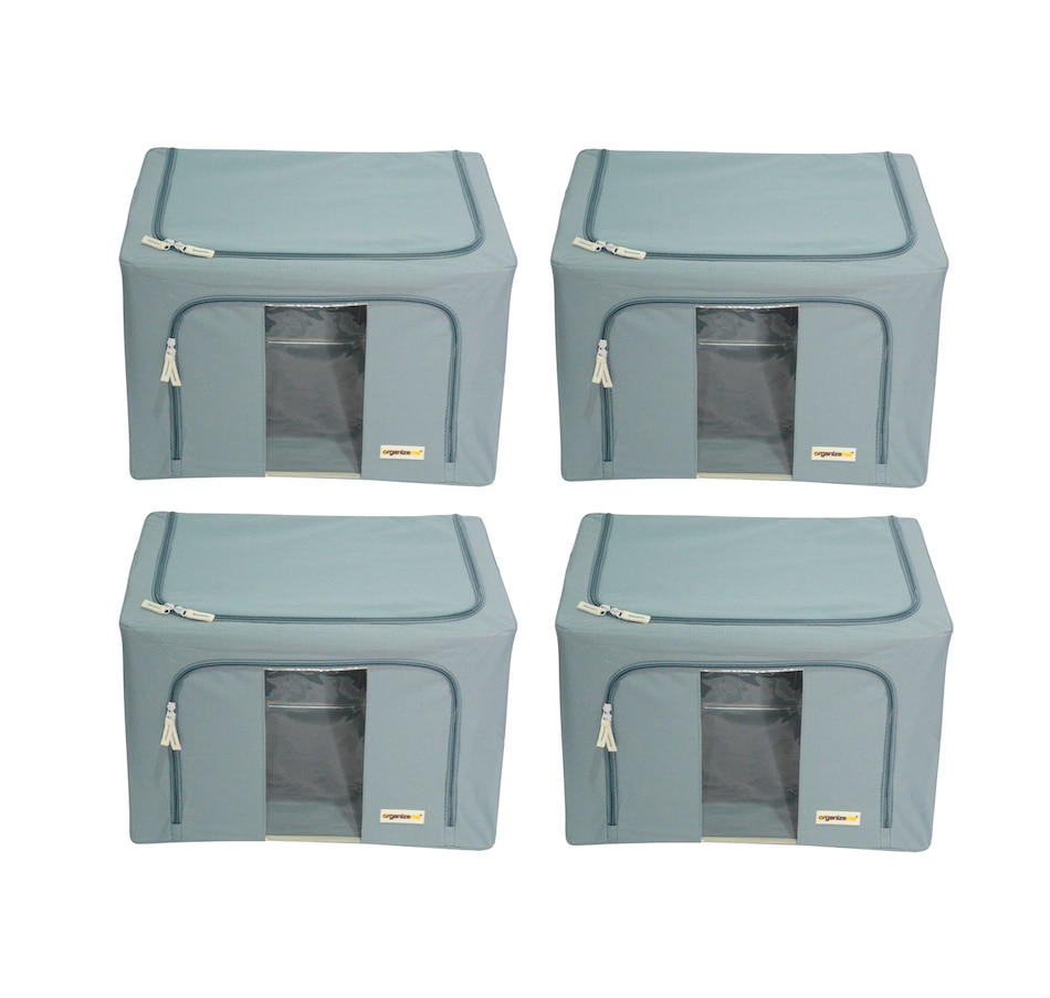 Image 477452_GRY.jpg , Product 477-452 / Price $69.99 , OrganizeMe Medium Storage Cases (4-Pack) from Organizeme on TSC.ca's Home & Garden department