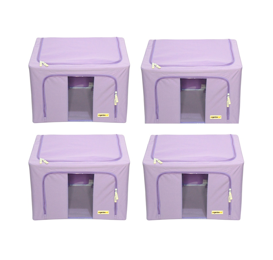Image 477452_LAV.jpg , Product 477-452 / Price $69.99 , OrganizeMe Large Storage Cases (4-Pack) from Organizeme on TSC.ca's Home & Garden department