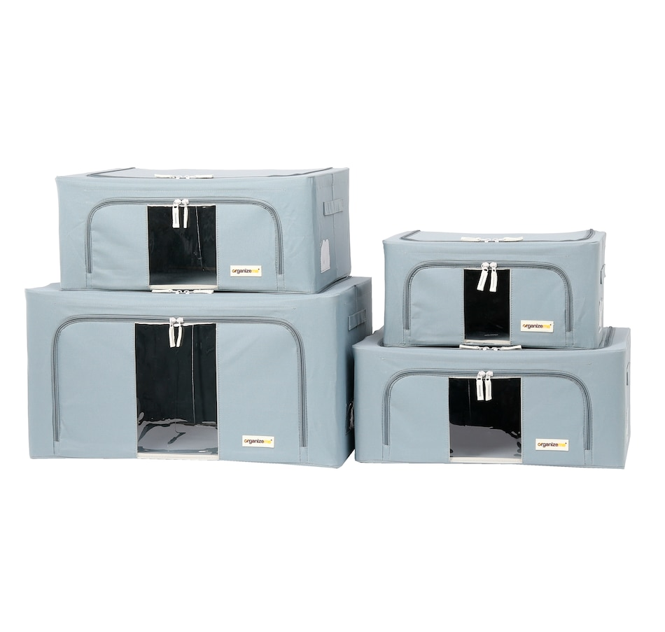 Image 477458_GRY.jpg , Product 477-458 / Price $69.99 , OrganizeMe Storage Cases (4-Pack) from Organizeme on TSC.ca's Home & Garden department