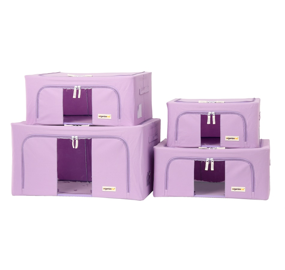 Image 477458_LAV.jpg , Product 477-458 / Price $49.99 , OrganizeMe Storage Cases (4-Pack) from Organizeme on TSC.ca's Home & Garden department
