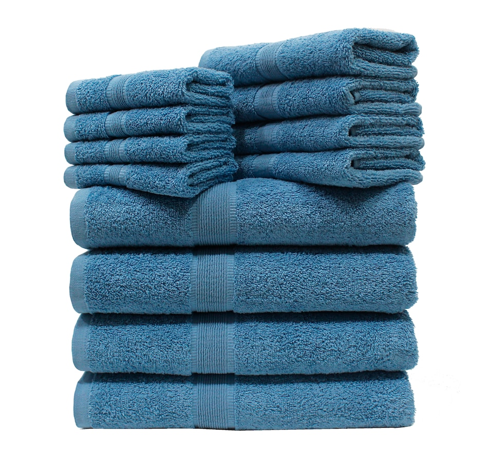Image 477489_BLU.jpg , Product 477-489 / Price $79.99 , St. Clair Combed Cotton 12-Piece Towel Set from St. Clair Bedding on TSC.ca's Home & Garden department