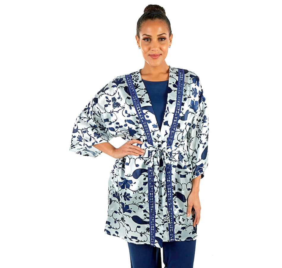 Image 477495.jpg , Product 477-495 / Price $62.88 , Guillaume Home Printed Sateen Robe with Embroidery from Guillaume Home on TSC.ca's Fashion department