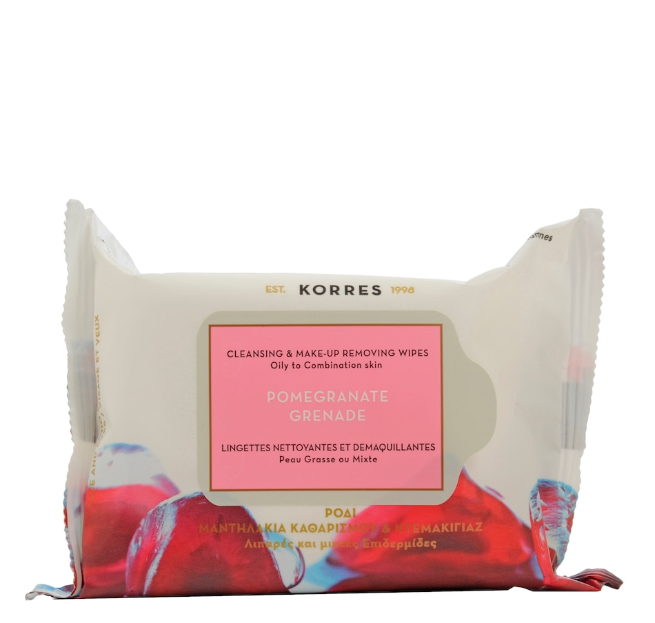 Image 478758.jpg , Product 478-758 / Price $20.00 , KORRES Pomegranate Cleansing Wipes from KORRES Natural Products on TSC.ca's Beauty department