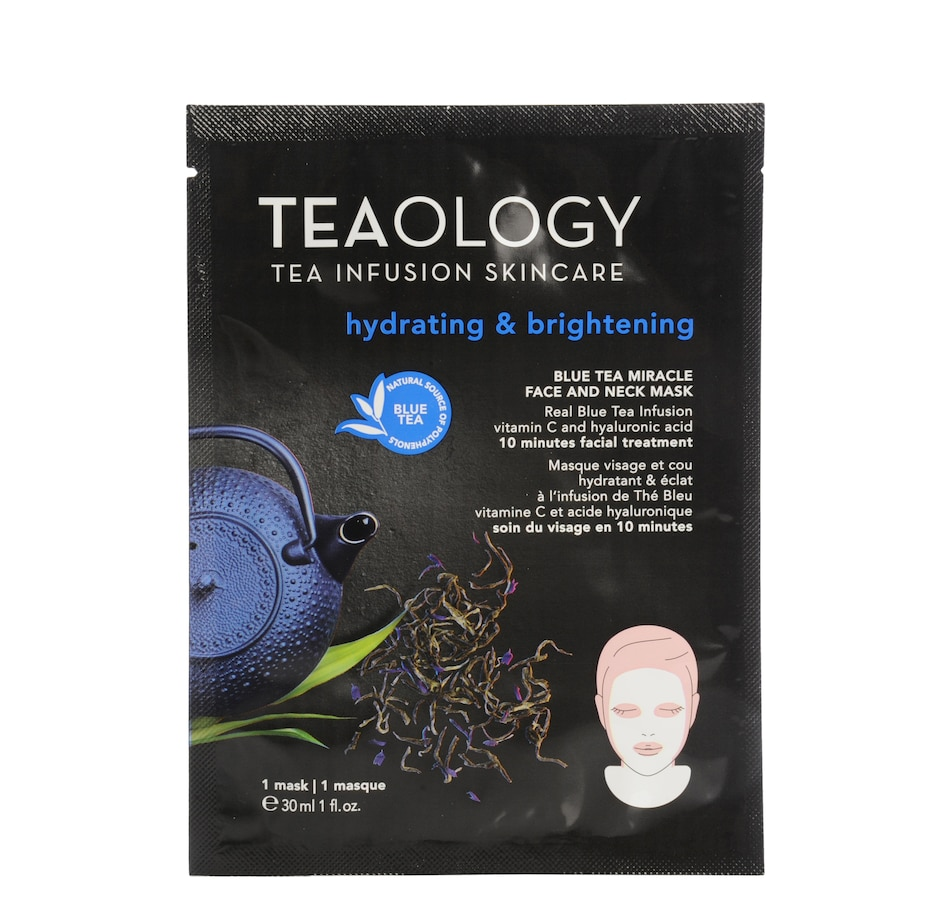 Image 481371.jpg , Product 481-371 / Price $11.95 , Teaology Hydrating & Brightening Blue Tea Miracle Face & Neck Mask from Teaology Skincare on TSC.ca's Beauty department