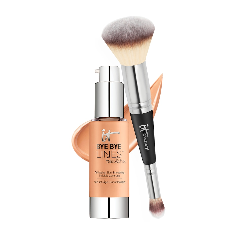 Image 481463_MDT.jpg , Product 481-463 / Price $85.00 , IT Cosmetics Bye Bye Lines Foundation with Brush from Face on TSC.ca's Beauty department