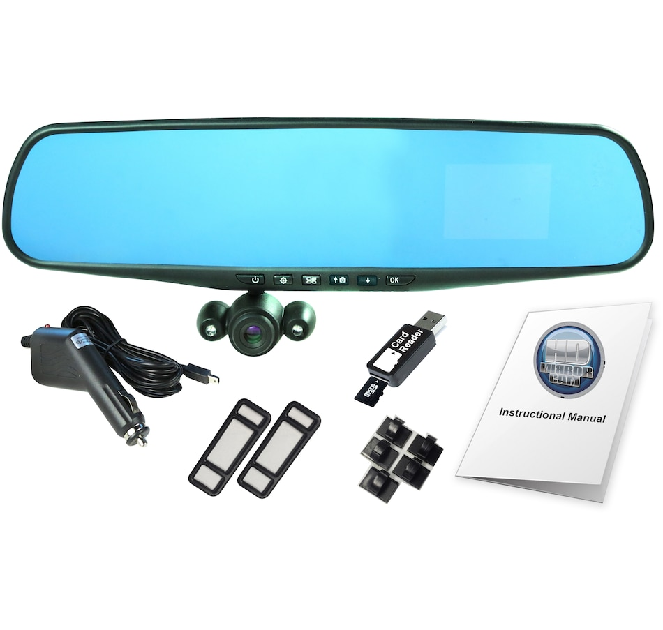 HD Mirror Dashcam with 2 5