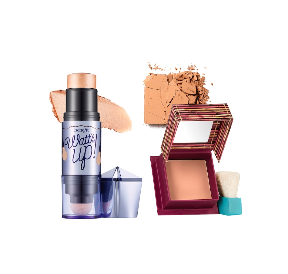 Image 482114.jpg , Product 482-114 / Price $62.00 , Benefit Cosmetics Watt's Up! Cream-to-Powder Highlighter & Hoola Matte Bronzer Mini from Benefit Cosmetics on TSC.ca's Beauty department