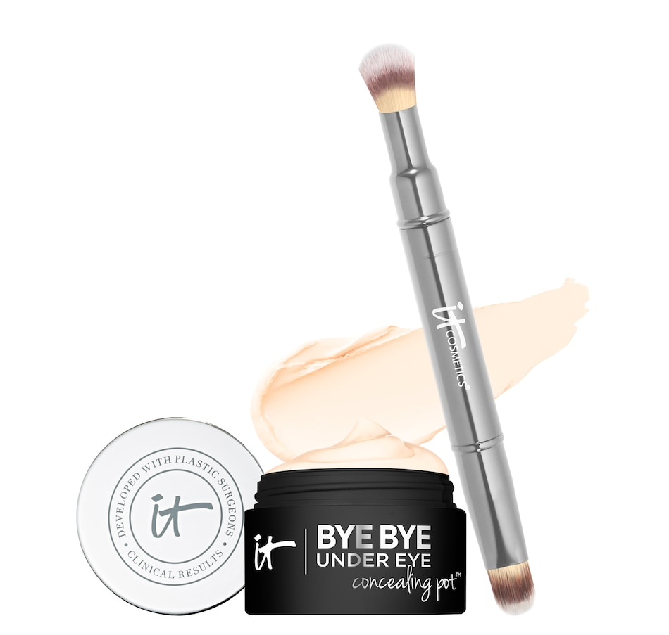 Image 482327_LHT.jpg , Product 482-327 / Price $55.00 , IT Cosmetics Bye Bye Under Eye Concealing Pot with Brush from Eyes on TSC.ca's Beauty department