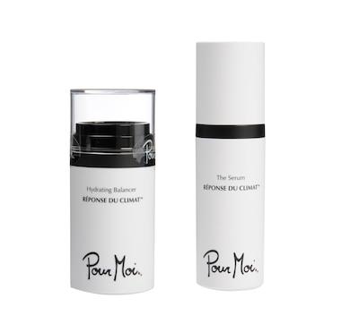Pour Moi Climate Smart Hydrating Balancer & Black Diamond (Anti-Aging) or  White Truffle (Hydration) Serum Set