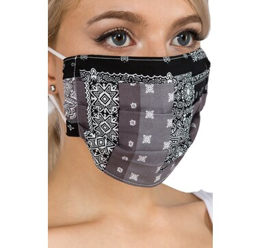 Only Accessories Cotton Patchwork Mask