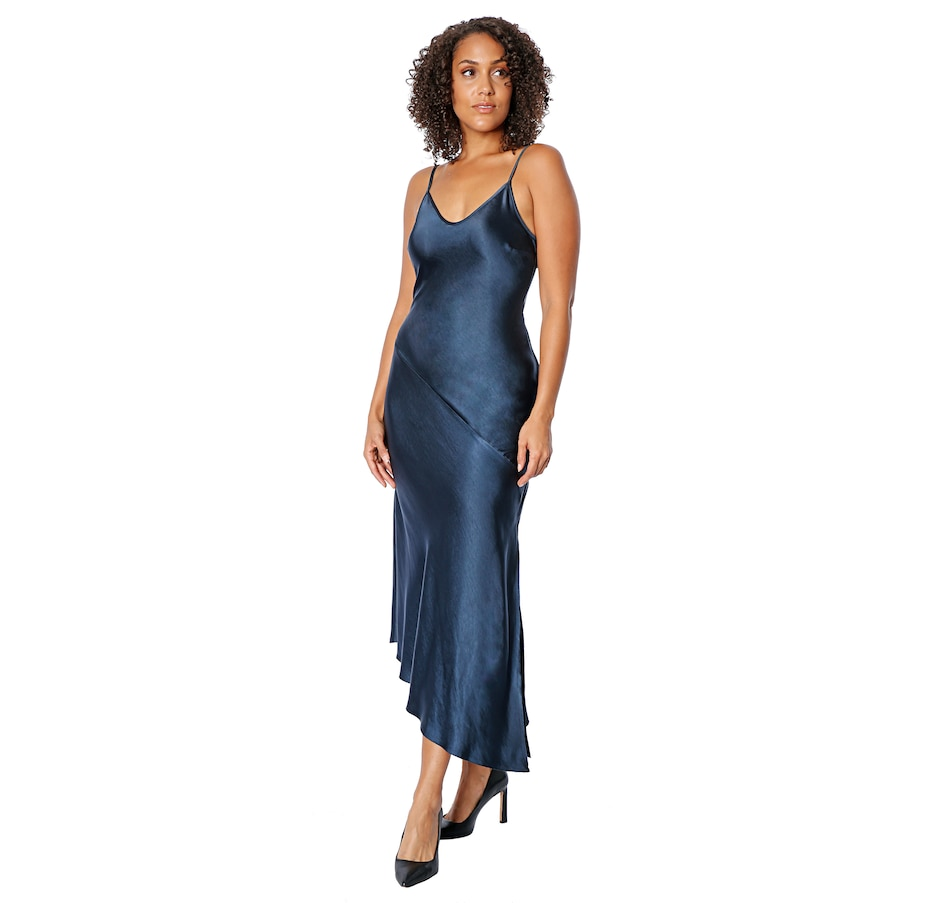 Image 482941_DTL.jpg , Product 482-941 / Price $230.00 , Tracy Moore Designed by Freda's Asymmetric Satin Slipdress from Tracy Moore Designed by Freda's on TSC.ca's Fashion department