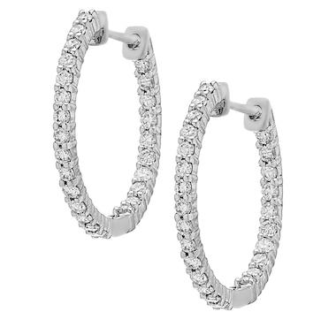 Inspire Diamonds 14K Gold Lab Grown Diamond Earrings