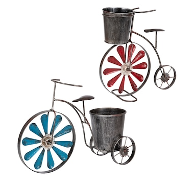 Metal Tricycle Planter (2-Pack)