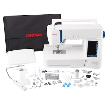Janome Skyline S9 Indigo Blue Bundle