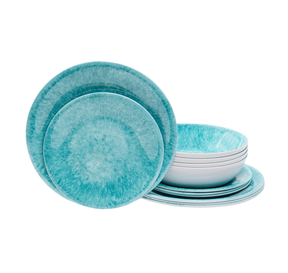 Image 483786_AQBTS.jpg , Product 483-786 / Price $39.88 , TarHong 12-Piece Melamine Dinnerware Set from TarHong on TSC.ca's Kitchen department