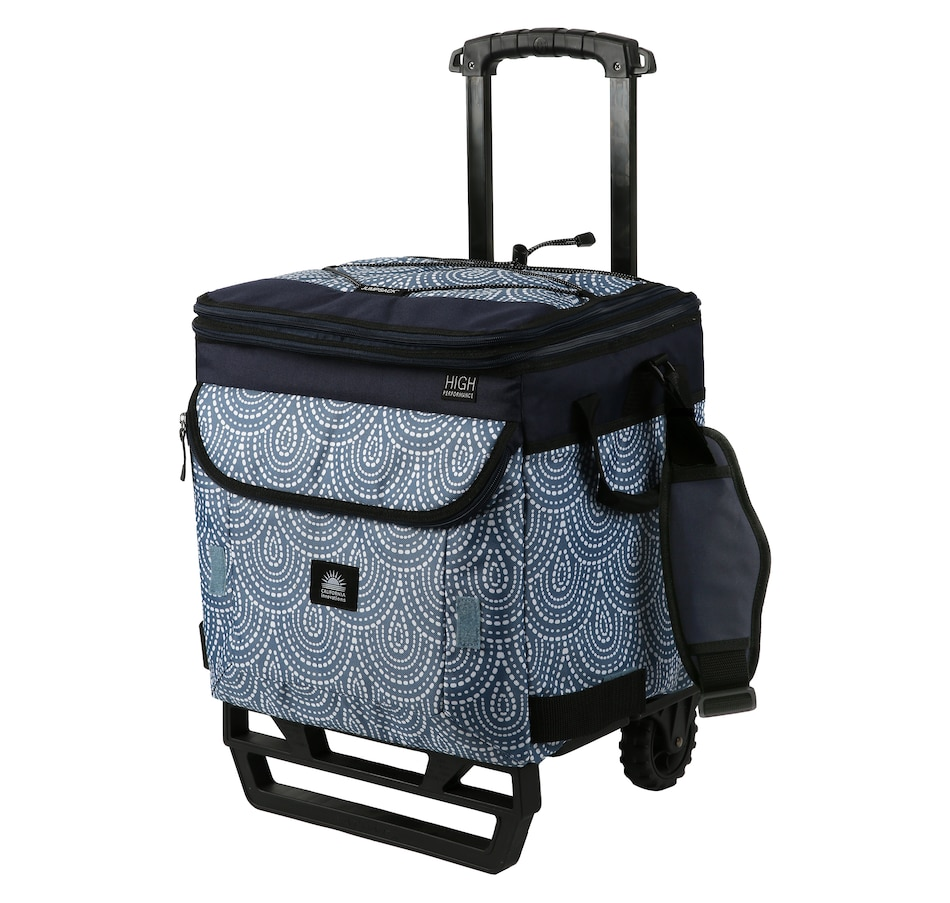 Image 483797_BLU.jpg , Product 483-797 / Price $49.99 , California Innovations 58-Can Rolling Cooler with JumpSack and All-Terrain Cart from California Innovations on TSC.ca's Home & Garden department
