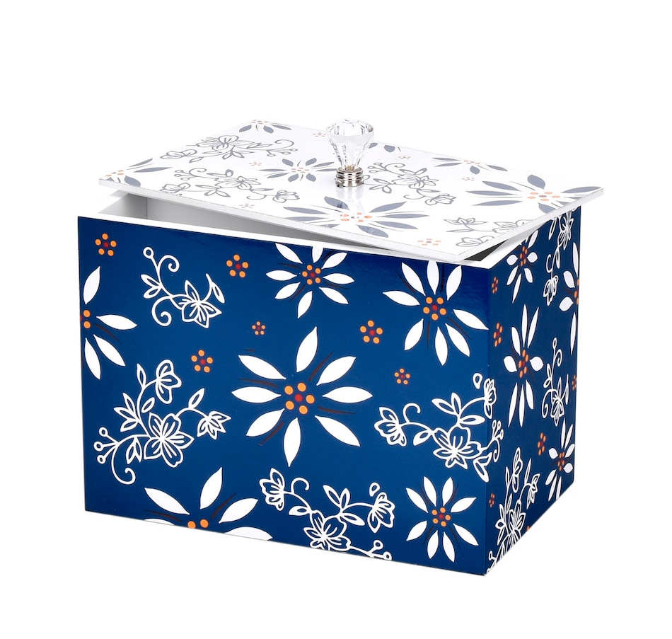 Image 483804_BLU.jpg , Product 483-804 / Price $24.88 , temp-tations Recipe Box with Dividers from Temp-tations on TSC.ca's Kitchen department