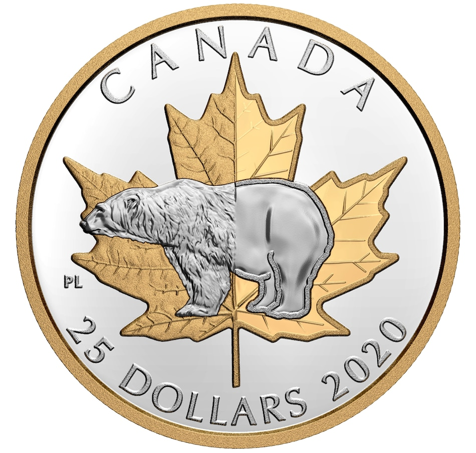 Image 483896.jpg , Product 483-896 / Price $114.95 , 2020 Proof $25 Fine Silver Piedfort Timeless Icons: Polar Bear from Royal Canadian Mint on TSC.ca's Coins department