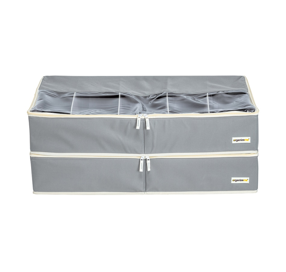 Image 483972_GRY.jpg , Product 483-972 / Price $49.99 , OrganizeMe Under-Bed Fashion Collapsible Cases (2-Pack) from Organizeme on TSC.ca's Home & Garden department