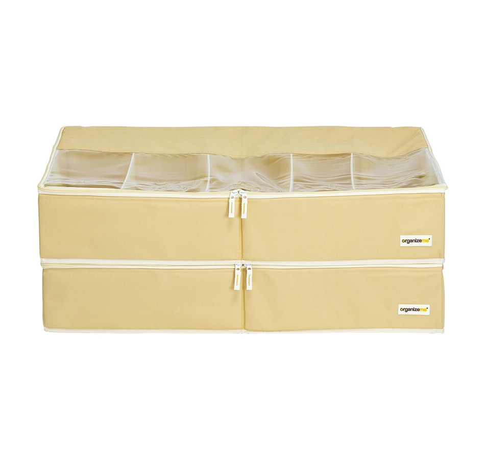 Image 483972_YEL.jpg , Product 483-972 / Price $49.99 , OrganizeMe Under-Bed Fashion Collapsible Cases (2-Pack) from Organizeme on TSC.ca's Home & Garden department