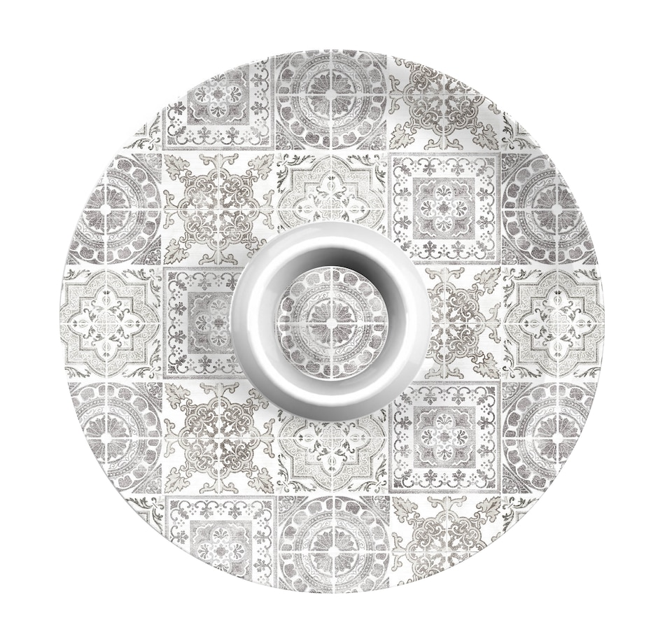 Image 483978.jpg , Product 483-978 / Price $34.88 , TarHong Portico Tile Grey Chip and Dip from TarHong on TSC.ca's Kitchen department